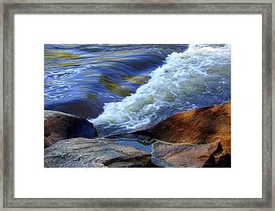 Framed Print featuring the photograph The River by Debra Crank