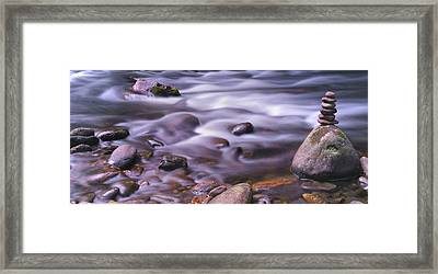 The River Flows Framed Print by Mike McGlothlen