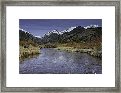 The River Flows Framed Print by Tom Wilbert