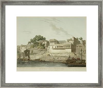 The River Ganges And Patna City Framed Print by British Library