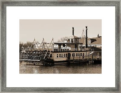 The River Lady Toms River New Jersey Framed Print by Terry DeLuco