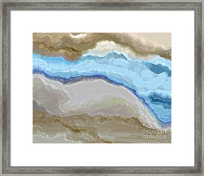 Framed Print featuring the digital art The River by Lena Wilhite