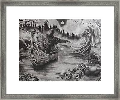 The River Of Deceit Framed Print
