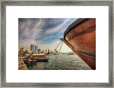 The River Of Dubai Framed Print