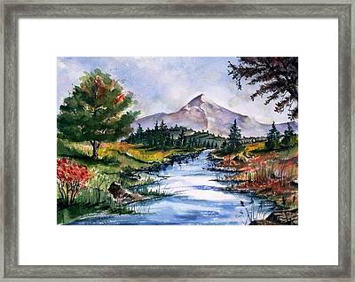 Framed Print featuring the painting The River by Richard Benson