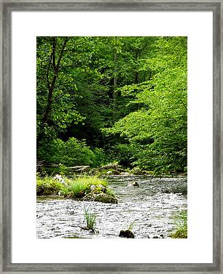 The River Runs Framed Print by Russell Clenney