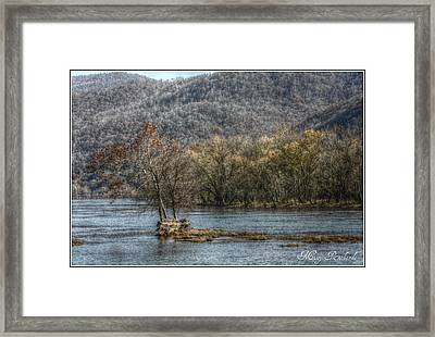 The River Runs Through It Framed Print by Missy Richards
