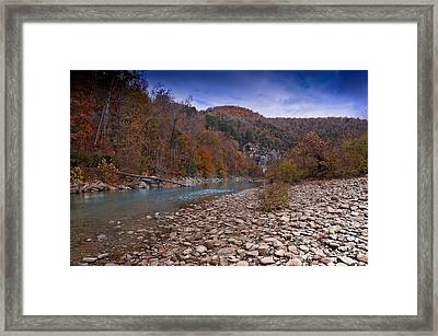 The River Runs Through Framed Print