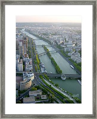 Framed Print featuring the photograph The River Seine by Deborah Smolinske