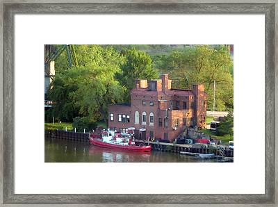 The River That Burned - Watercolor Framed Print by Patricia Januszkiewicz