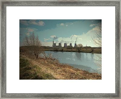 The River Trent And Ratcliffe-on-soar, Three Counties Framed Print by Litz Collection