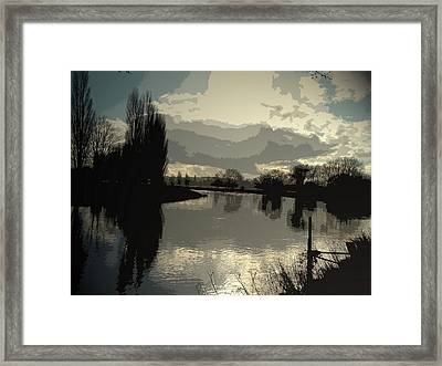 The River Trent At Barrow Upon Trent, Looking Upstream Framed Print by Litz Collection