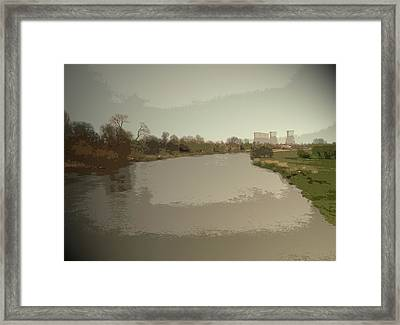 The River Trent From Willington Bridge, Looking Downstream Framed Print by Litz Collection
