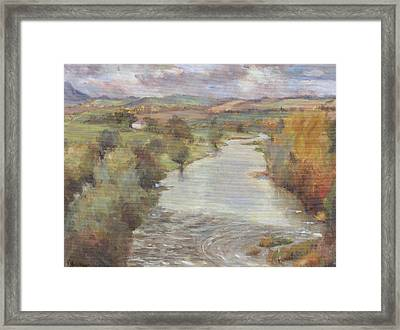 The River Tweed, Roxburghshire, 1995 Framed Print by Karen Armitage