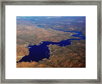 The River Winds Framed Print by Natalie Ortiz