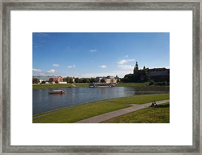 The River Wisla Passing The Distant Framed Print by Panoramic Images