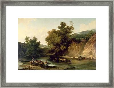 The River Wye At Tintern Abbey, 1805 Framed Print