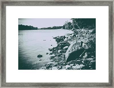 The Rivers Edge Framed Print by Karol Livote