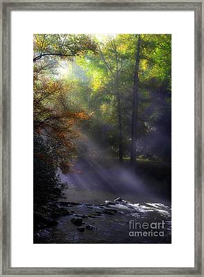 The River's Embrace Framed Print