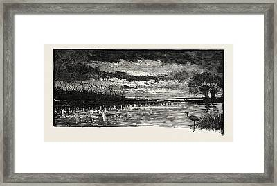 The Rivers Of The Wash A Bit Of Fen Framed Print