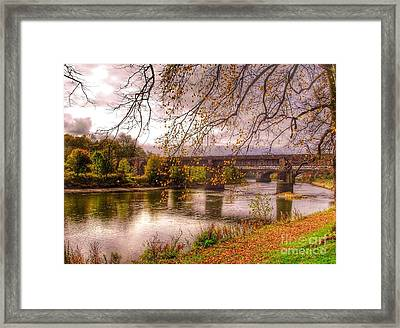 The Riverside At Avenham Park Framed Print
