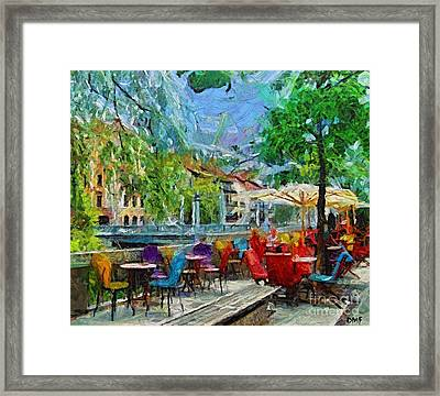 The Riverside Cafe Framed Print by Dragica  Micki Fortuna