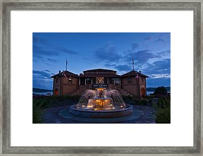 The Riviera On Geneva Lake Wi Framed Print by Steve Gadomski