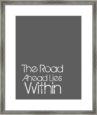 The Road Ahead Framed Print by Brandon Addis