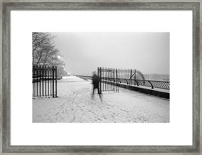 Framed Print featuring the photograph The Road Ahead by Dave Beckerman
