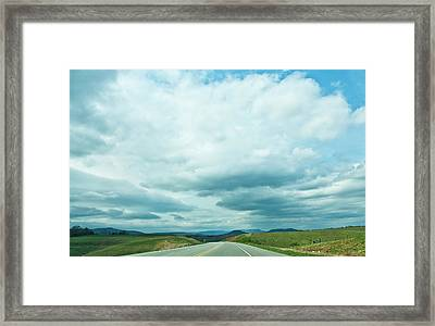 The Road Ahead Framed Print by Lena Wilhite