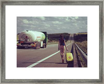 The Road.... Framed Print