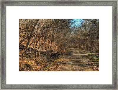 The Road Goes Ever On Framed Print by William Fields