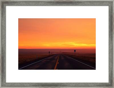 Framed Print featuring the photograph The Road Goes On And On by Lynn Hopwood