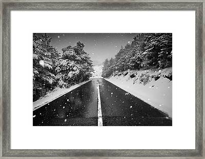 The Road Framed Print by Guido Montanes Castillo