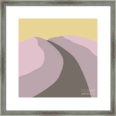 The Road Framed Print by Henry Manning
