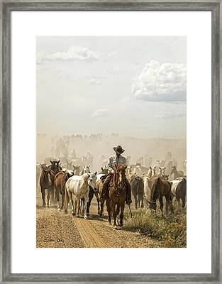 The Road Home 2013 Framed Print by Joan Davis