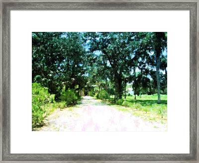 The Road Home Framed Print by Florene Welebny