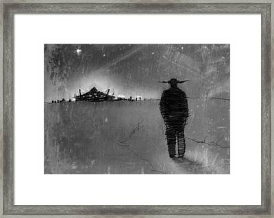 The Road Home Framed Print by H James Hoff