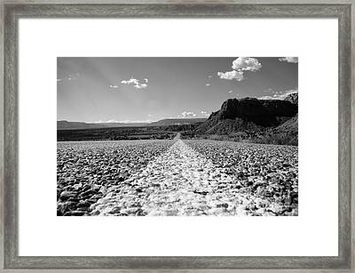 The Road Is Calling Framed Print