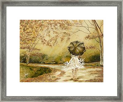 The Road Framed Print by Karina Llergo