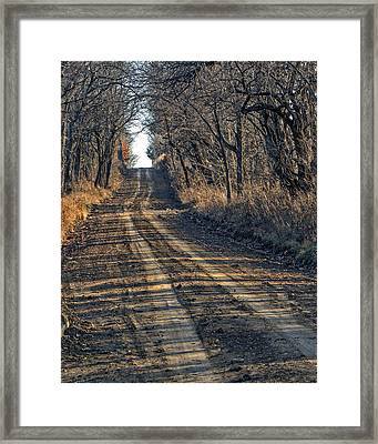 The Road Less Traveled Framed Print by Kevin Anderson