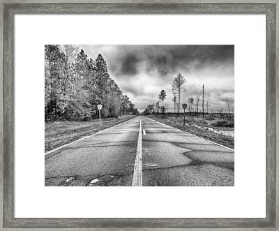 The Road Less Traveled Framed Print by Howard Salmon