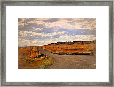 The Road Less Traveled Framed Print by Marty Koch