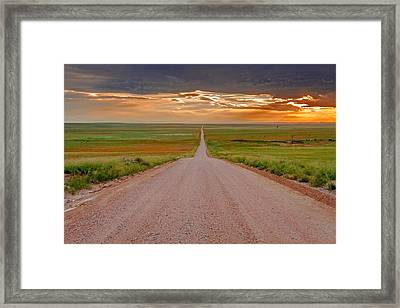 The Road Less Traveled Framed Print by Teri Virbickis