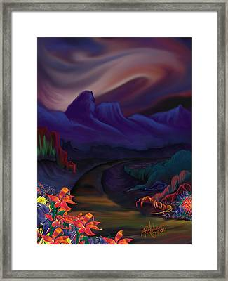 Framed Print featuring the digital art The Road Less Traveled by Yolanda Raker
