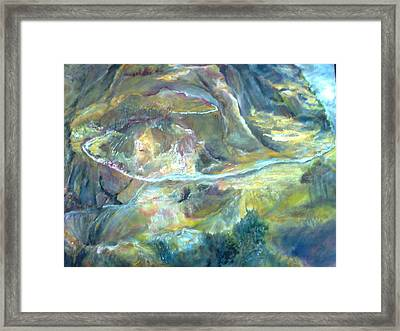 The Road Less Travelled Framed Print