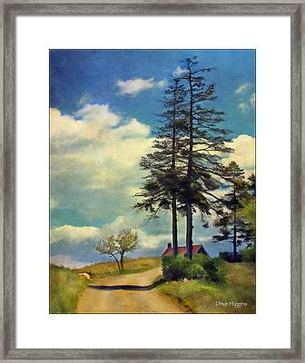 The Road Monhegan Island  Maine Framed Print by Dave Higgins