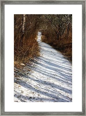 The Road Not Taken Framed Print by Anne Babineau