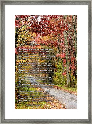 The Road Not Taken Framed Print by Robert Camp