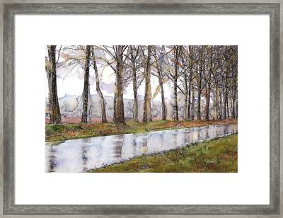 The Road Not Traveled Framed Print by Susan Powell